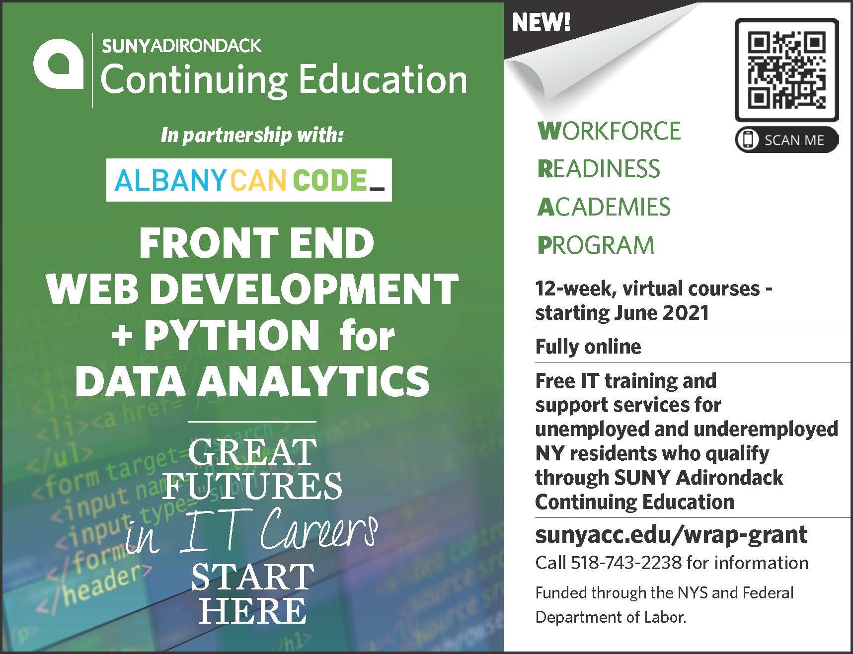 Front End Web Development and Python for Data Analytics